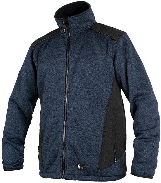 Canis Pánska bunda GARLAND - Modrá / černá | XXXXL