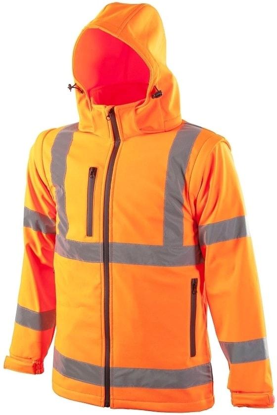 Reflexní softshellová bunda - Oranžová | XXXL