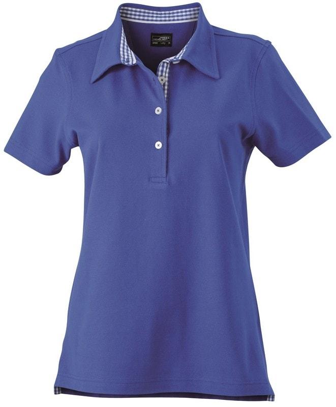 Elegantní dámská polokošile JN969 - Královská modrá / královská modrá / bílá | L