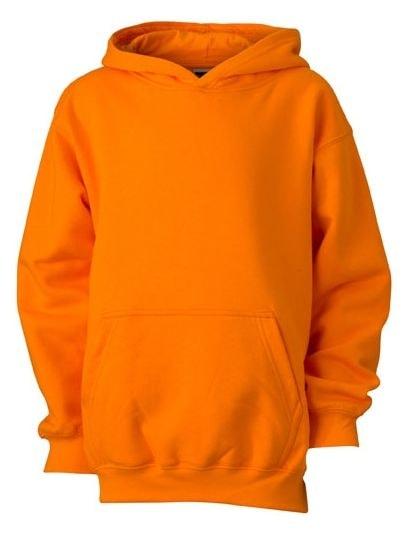 James & Nicholson Detská mikina s kapucňou JN047k - Oranžová | L