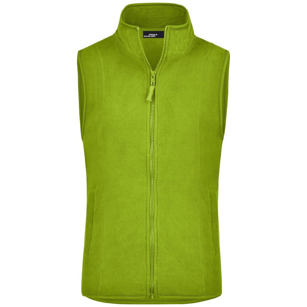 James & Nicholson Dámská fleecová vesta JN048 - Limetkově zelená   XXL