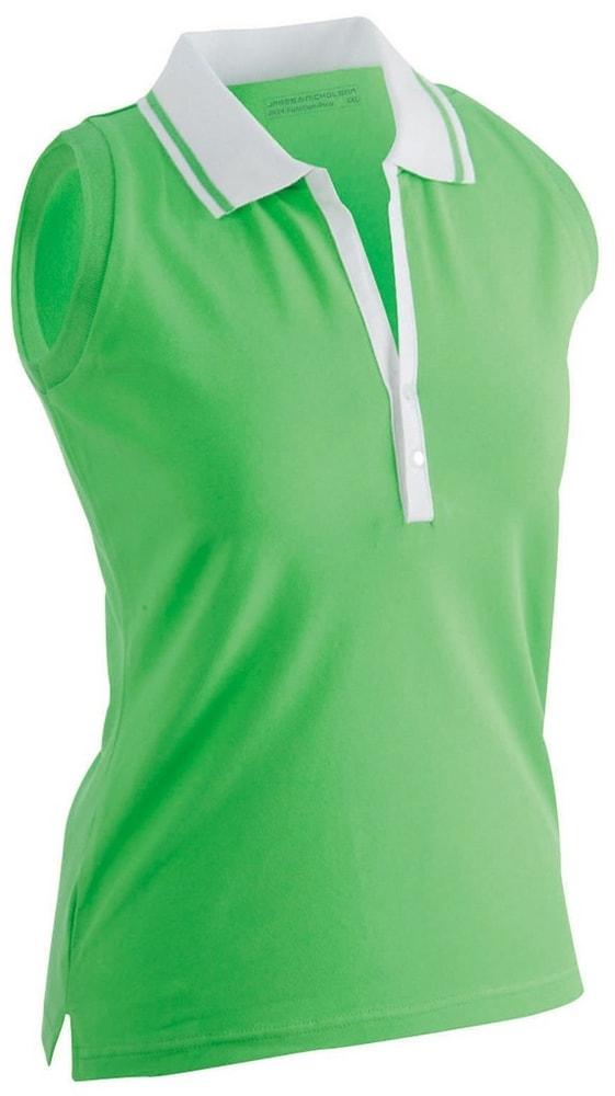 Dámská elastická polokošile bez rukávů JN159 - Limetkově zelená / bílá   XXL