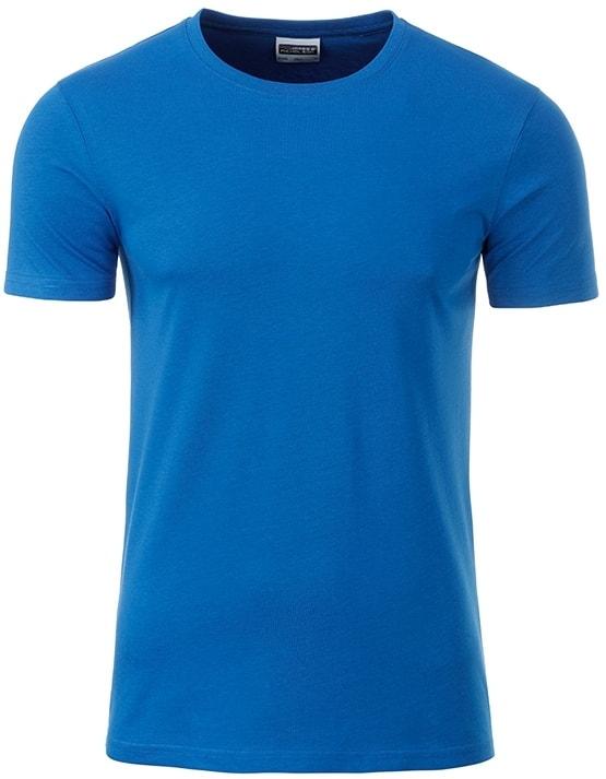 James & Nicholson Klasické pánske tričko z biobavlny 8008 - Kobaltová | XXL