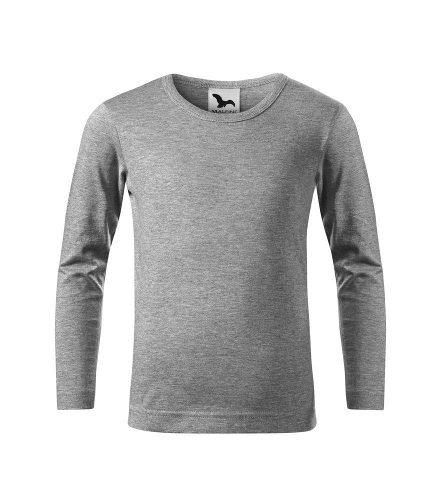 Adler Detské tričko s dlhým rukávom Long Sleeve - Tmavě šedý melír   110 cm (4 roky)