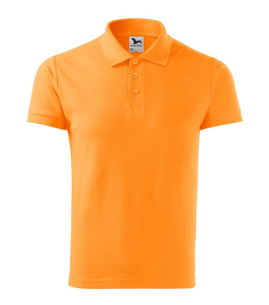 Adler Pánska polokošeľa Cotton Heavy - Mandarinkově oranžová | L