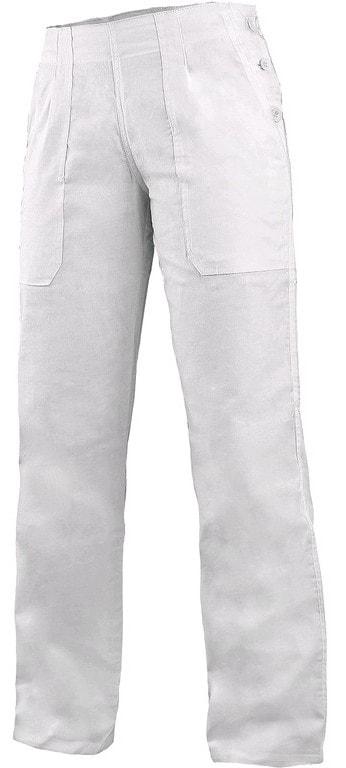 Canis Dámske biele pracovné nohavice DARJA 145 s pasom do gumy - 48