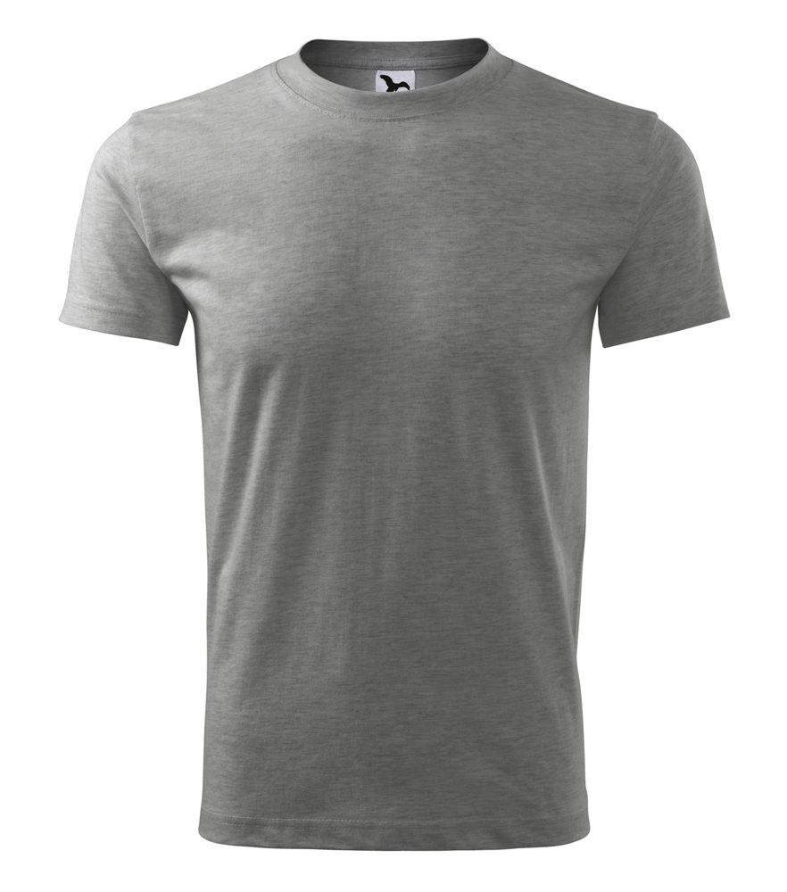 Adler Pánske tričko Classic New - Tmavě šedý melír | XL