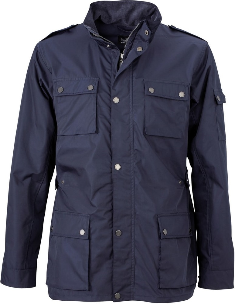 James & Nicholson Pánska štýlová bunda JN1056 - Tmavě modrá | S