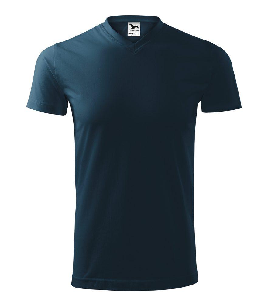 Adler Tričko Heavy V-neck - Námořní modrá | S