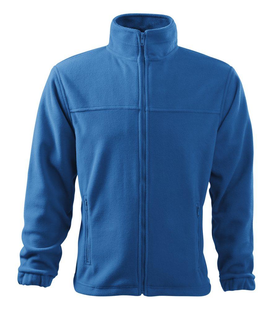 Adler Pánska fleecová mikina Jacket - Azurově modrá | XXXL