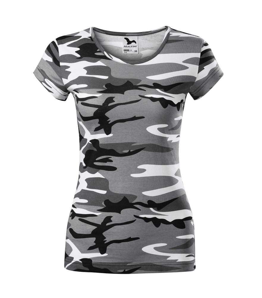 Adler Dámske tričko Camo Pure - Maskáčová šedá | XS