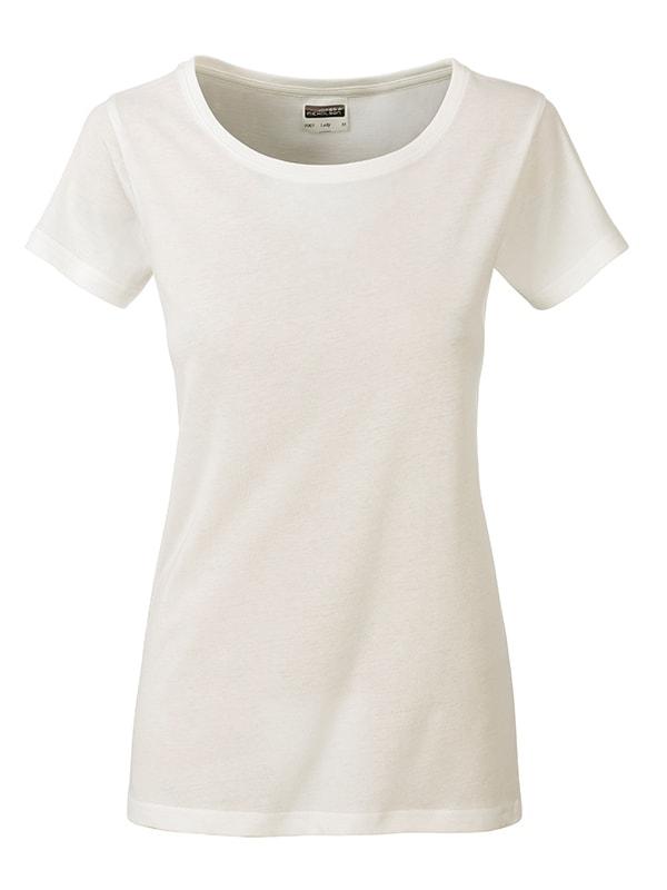 James & Nicholson Klasické dámske tričko z biobavlny 8007 - Přírodní | XL