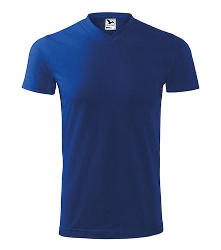 Adler Tričko Heavy V-neck - Královská modrá | XL