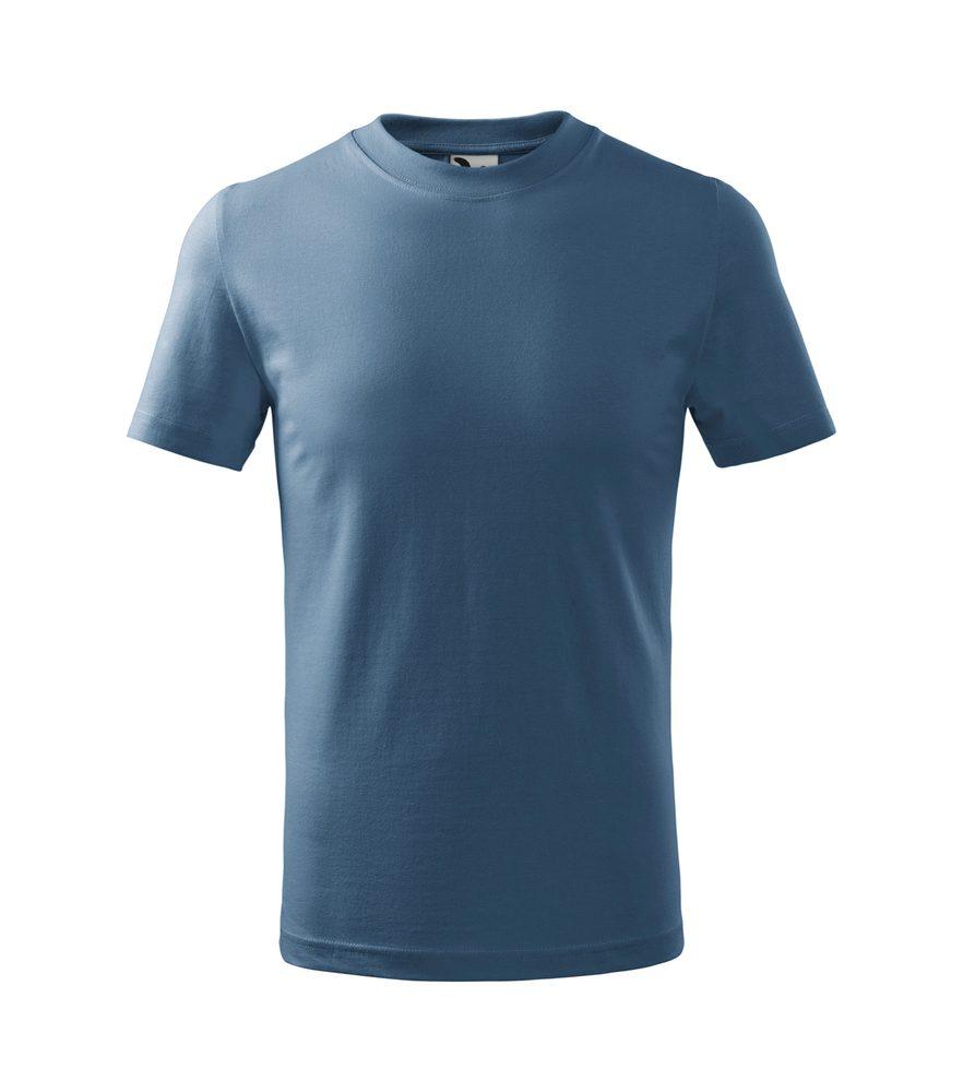 Adler (MALFINI) Detské tričko Basic - Denim | 146 cm (10 let)