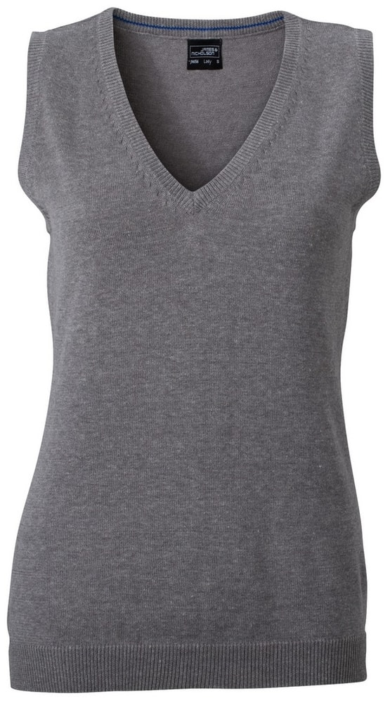 Dámský svetr bez rukávů JN656 - Šedý melír | L