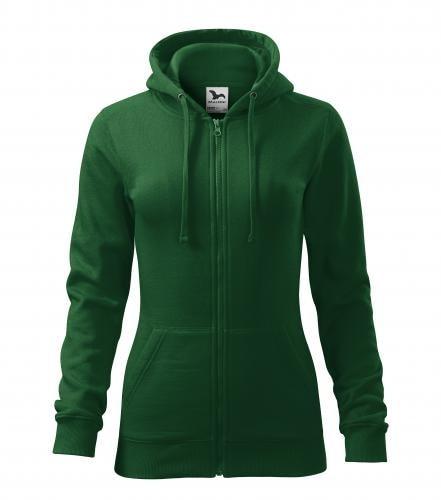 Adler Dámska mikina Trendy Zipper - Lahvově zelená | S