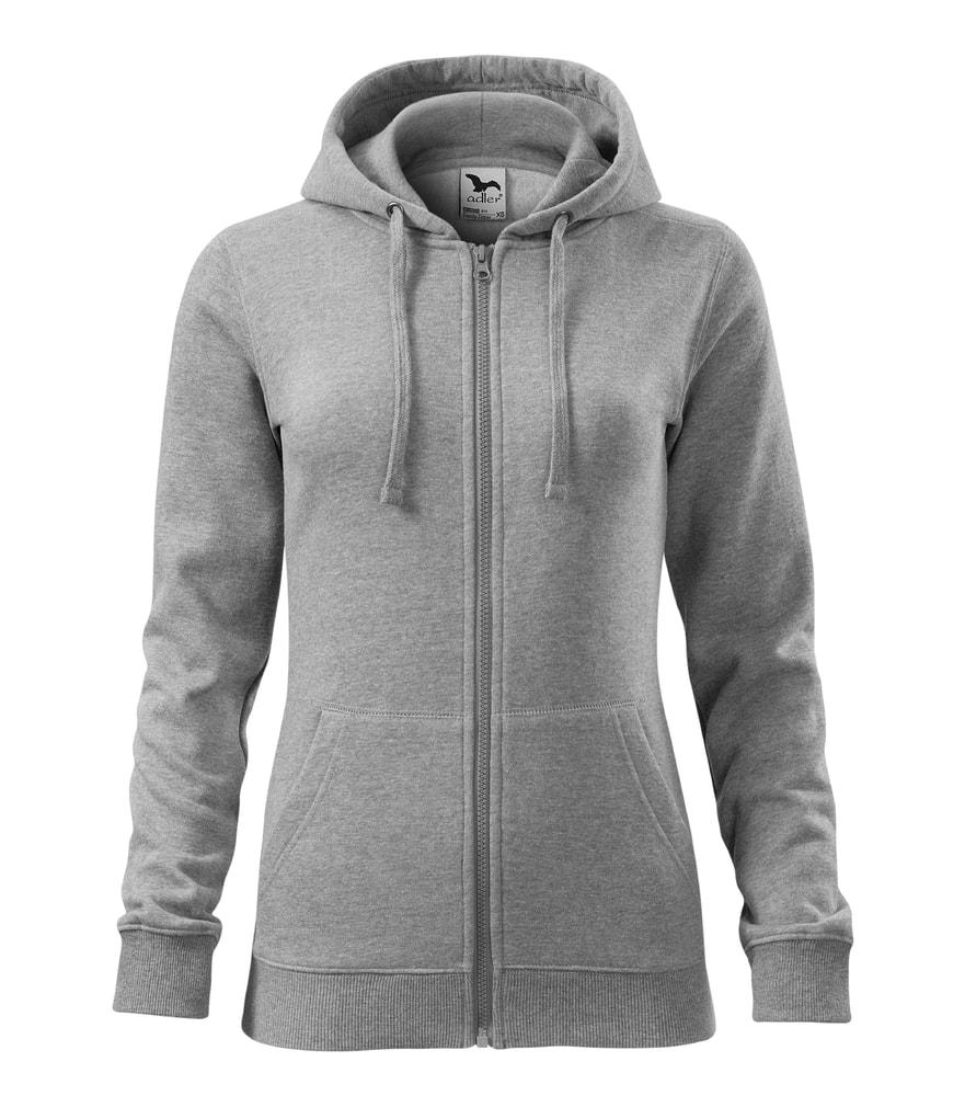Adler Dámska mikina Trendy Zipper - Tmavě šedý melír | S