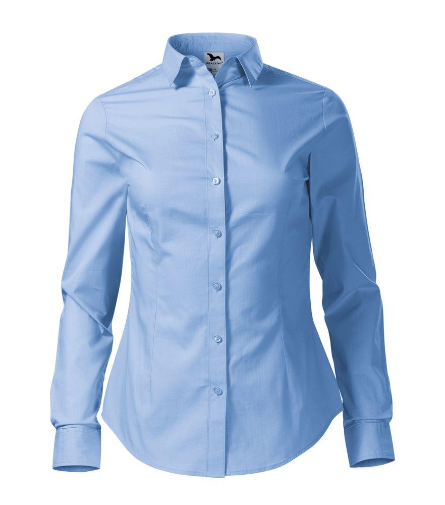 Adler (MALFINI) Dámska košeľa s dlhým rukávom Style - Nebesky modrá   S