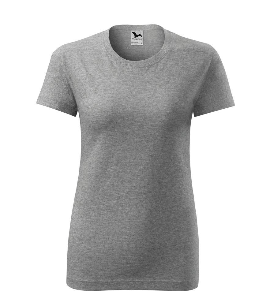 Adler Dámske tričko Classic New - Tmavě šedý melír | M