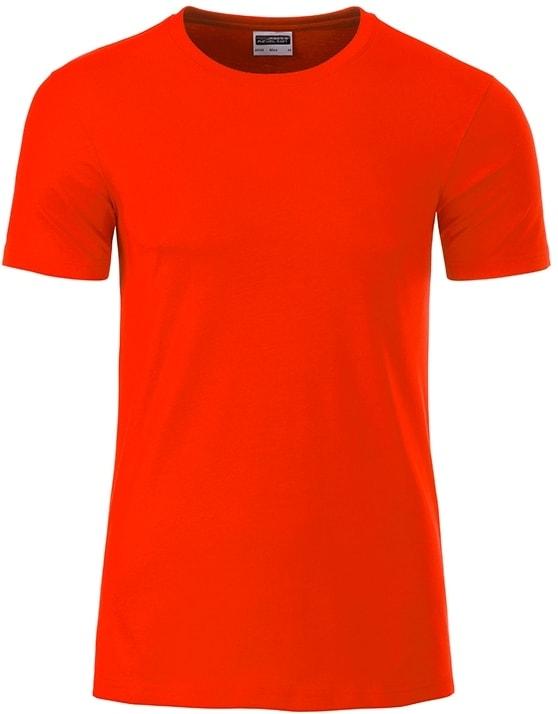James & Nicholson Klasické pánske tričko z biobavlny 8008 - Grenadina | XXL