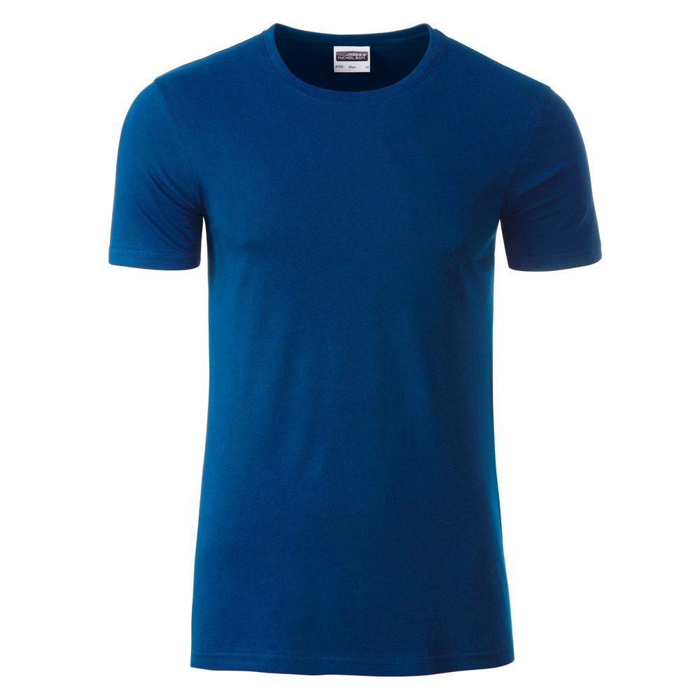 James & Nicholson Klasické pánske tričko z biobavlny 8008 - Tmavá královská modrá | XL