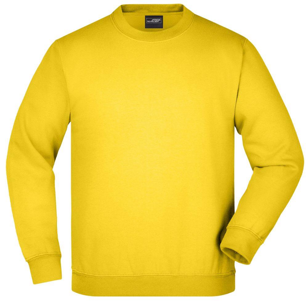 James & Nicholson Detská mikina bez kapucne JN040k - Slunečně žlutá | L