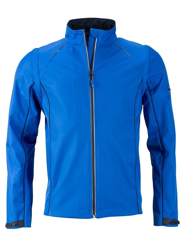 James & Nicholson Pánska softshellová bunda 2v1 JN1122 - Světle modrá / tmavě modrá | XXXL