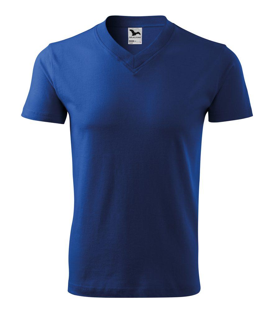 Adler Tričko V-neck - Královská modrá | XXXL