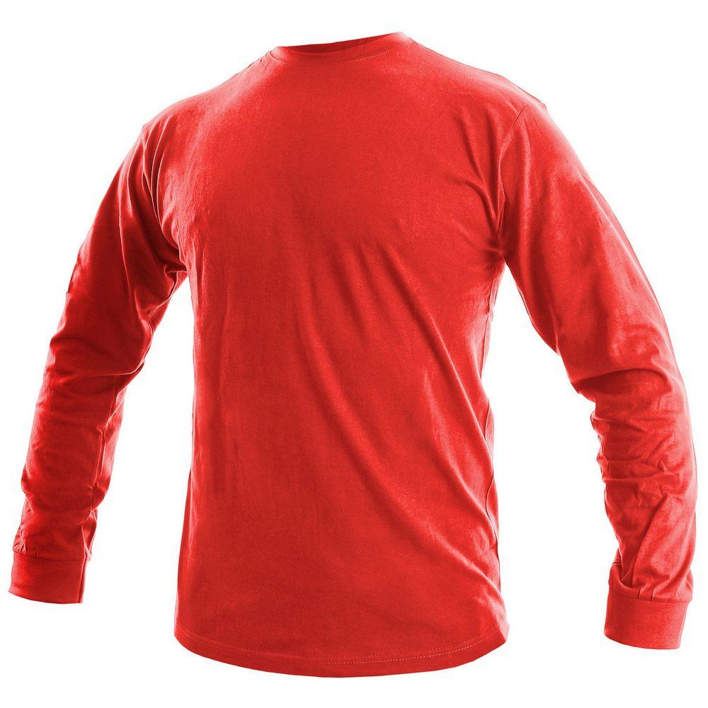 Canis Pánske tričko s dlhým rukávom PETR - Červená | XXL