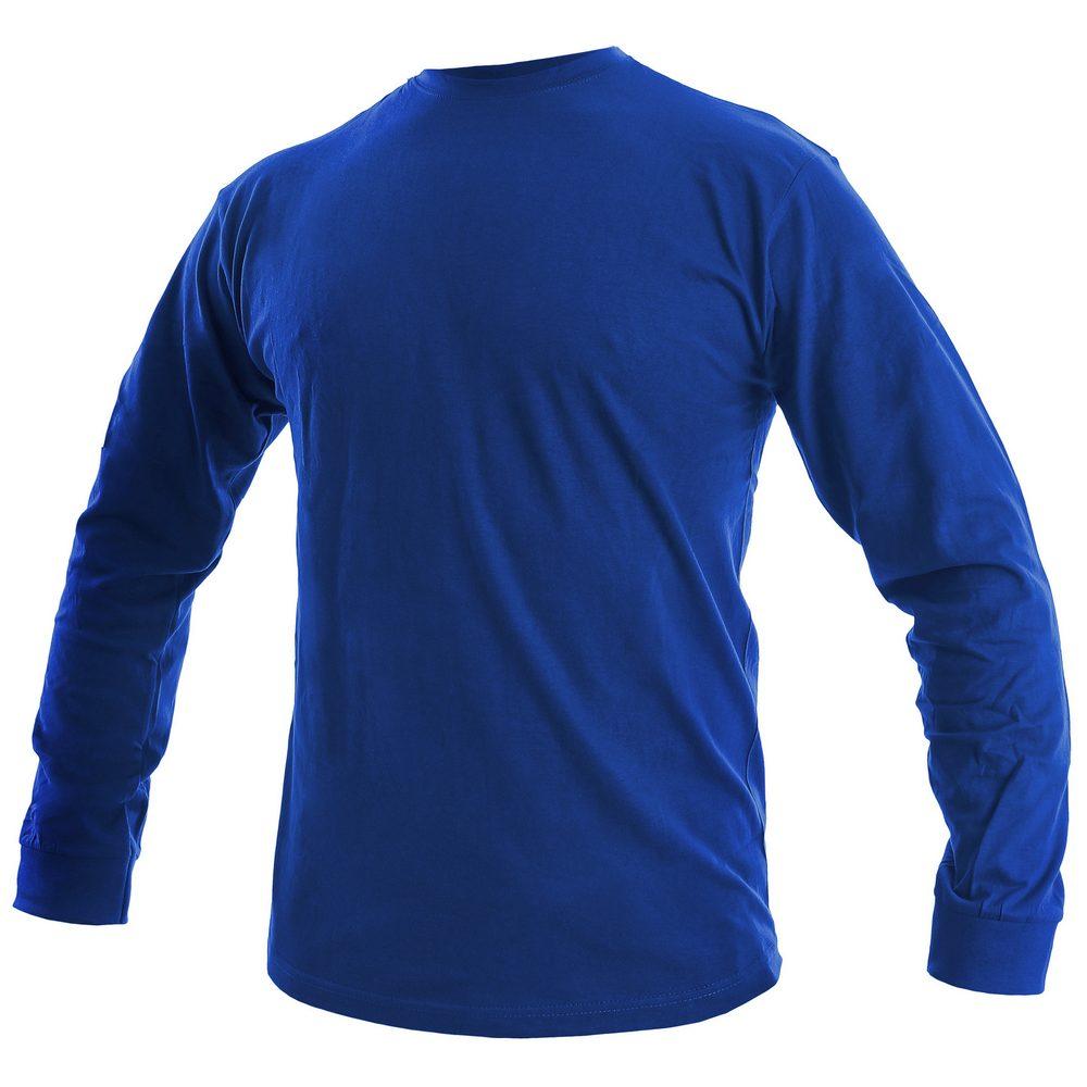Canis Pánske tričko s dlhým rukávom PETR - Královská modrá | XL