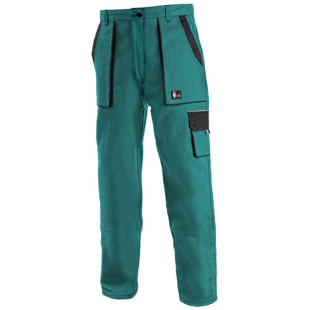 Canis Dámské pracovní kalhoty CXS LUXY ELENA - Zelená / černá   42