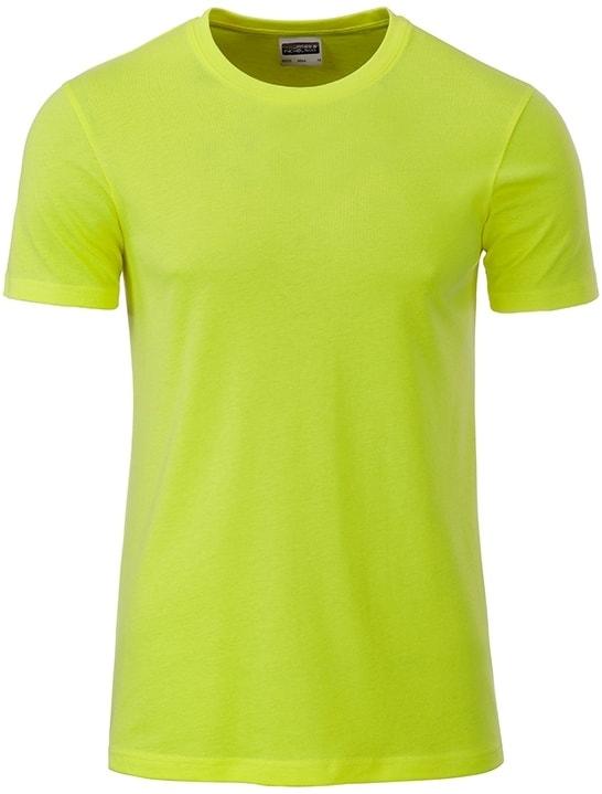 James & Nicholson Klasické pánske tričko z biobavlny 8008 - Žlutozelená | XXL