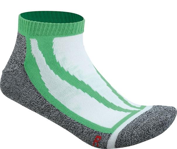 Levně James & Nicholson Sportovní ponožky nízké JN209 - Zelená