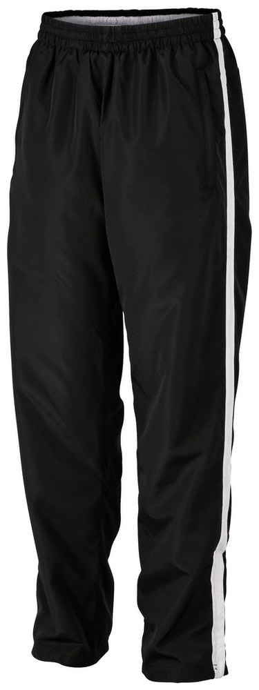 James & Nicholson Pánské běžecké tepláky JN490 - Černá / bílá | M
