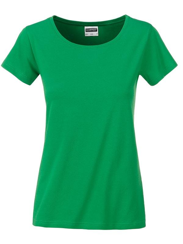 James & Nicholson Klasické dámske tričko z biobavlny 8007 - Kapradinová | XL