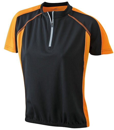 James & Nicholson Dámske cyklistické tričko JN419 - Černá / oranžová | M