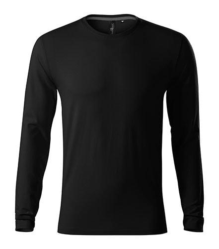 Adler Pánske tričko s dlhým rukávom Brave - Černá | S