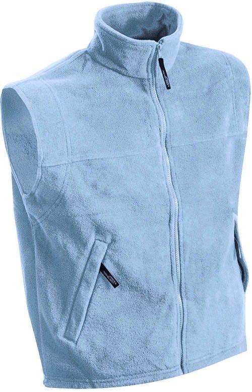 James & Nicholson Pánska fleecová vesta JN045 - Světle modrá | S