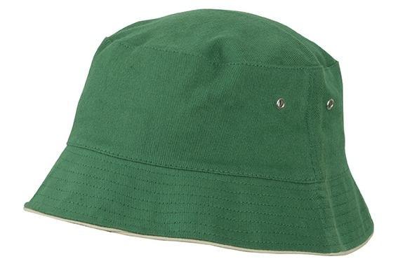 Bavlněný klobouk MB012 - Tmavě zelená / béžová | L/XL