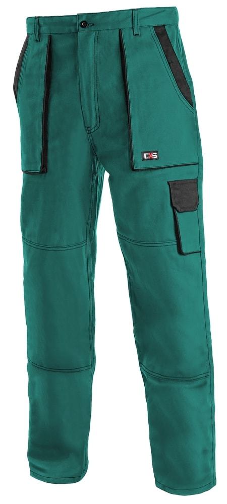 Canis Dámske pracovné nohavice CXS LUXY ELENA - Zelená / černá | 56