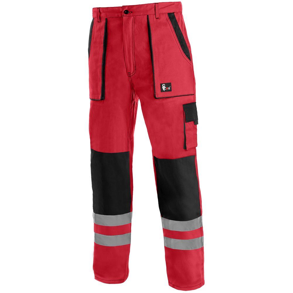 Canis Montérkové nohavice do pása CXS LUXY BRIGHT - Červená / černá | 48