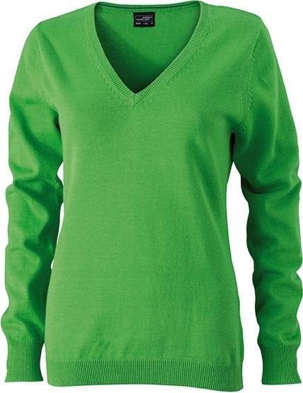 James & Nicholson Dámský bavlněný svetr JN658 - Zelená | XXL