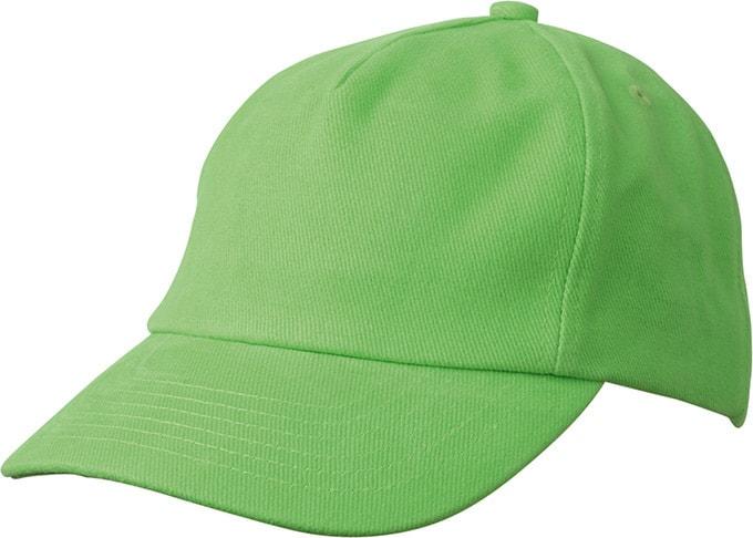 Dětská 5P kšiltovka MB7010 - Limetkově zelená