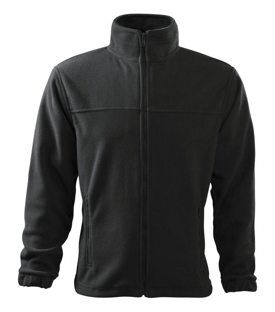 Adler (MALFINI) Pánska fleecová mikina Jacket - Ebony gray | XXXXL