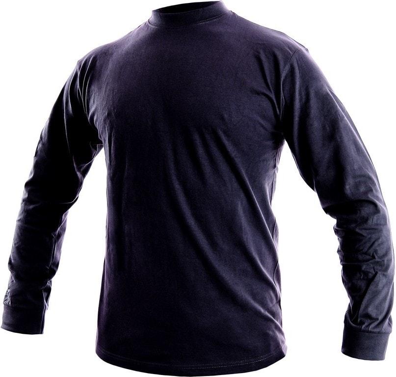 Canis Pánske tričko s dlhým rukávom PETR - Tmavě modrá | L