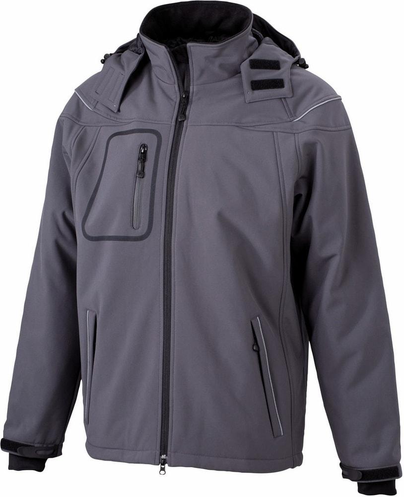 James & Nicholson Zimná pánska softshellová bunda JN1000 - Tmavě šedá | XXXL