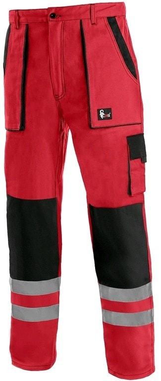 Canis Montérkové nohavice do pása CXS LUXY BRIGHT - Červená / černá   48