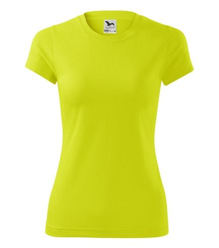 Adler Dámske tričko Fantasy - Neonově žlutá | S