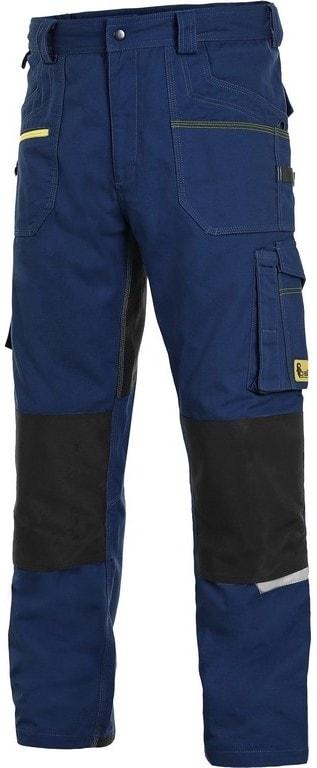 Canis Montérkové nohavice do pása CXS STRETCH - Tmavě modrá / černá   48