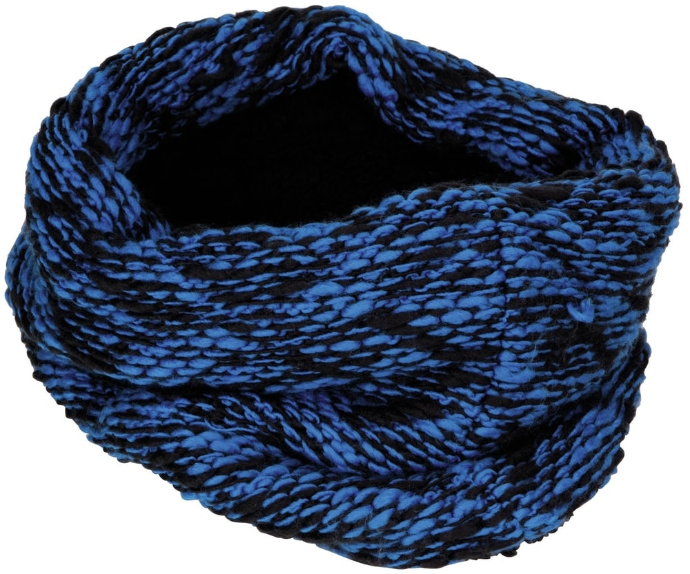 Levně Myrtle Beach Pletená kruhová šála MB7304 - Královská modrá / černá